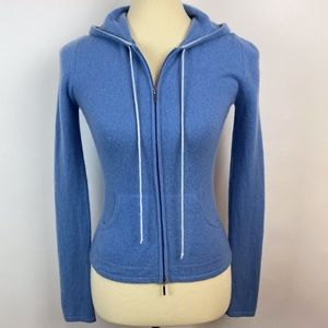 Express 100% Cashmere hoodie blue XS